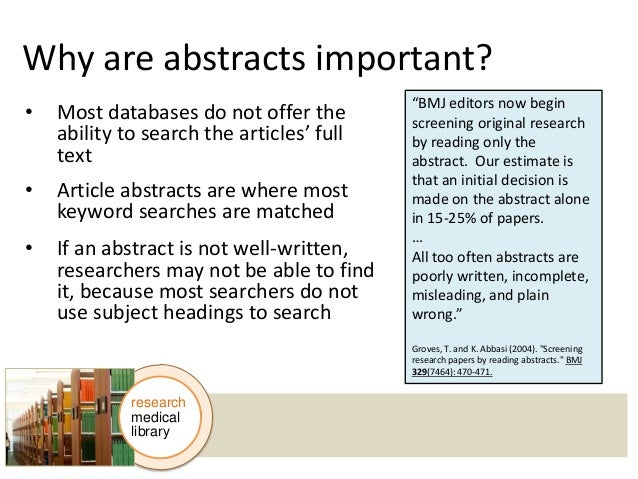 Do research papers have abstracts