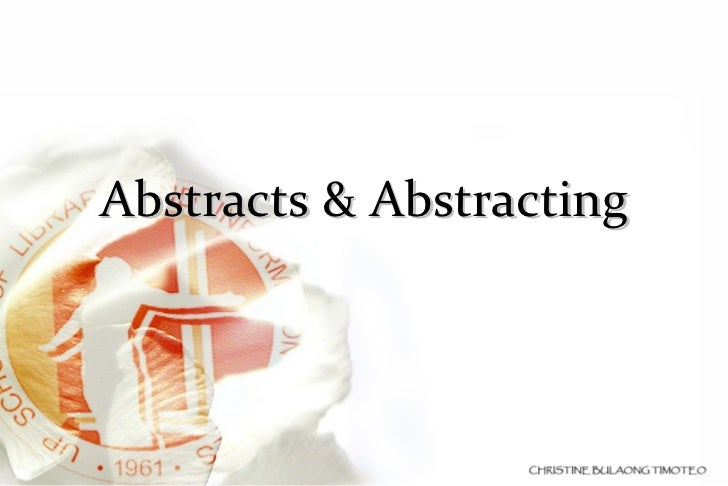 Abstracts & Abstracting