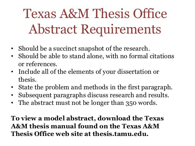 Dissertation office tamu