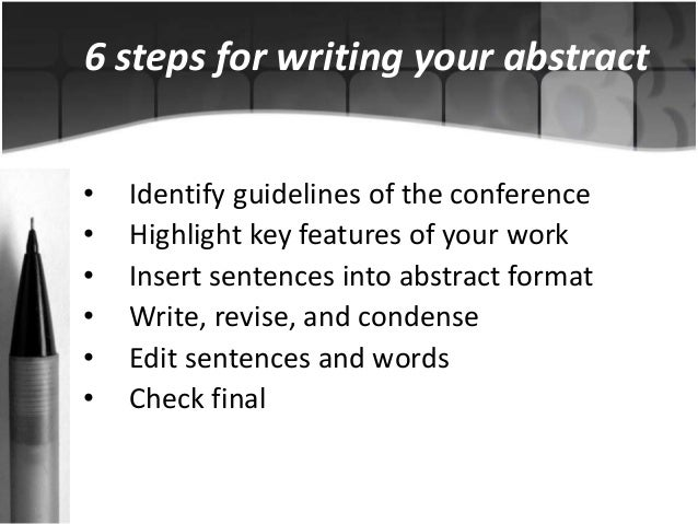 Abstract Writing For Conferences