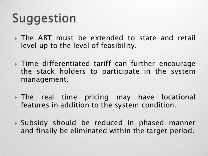 availability based tariff Public-private partnerships in roads public-private  pure availability' based payment structures generally transfer neither of these  tariff setting and.