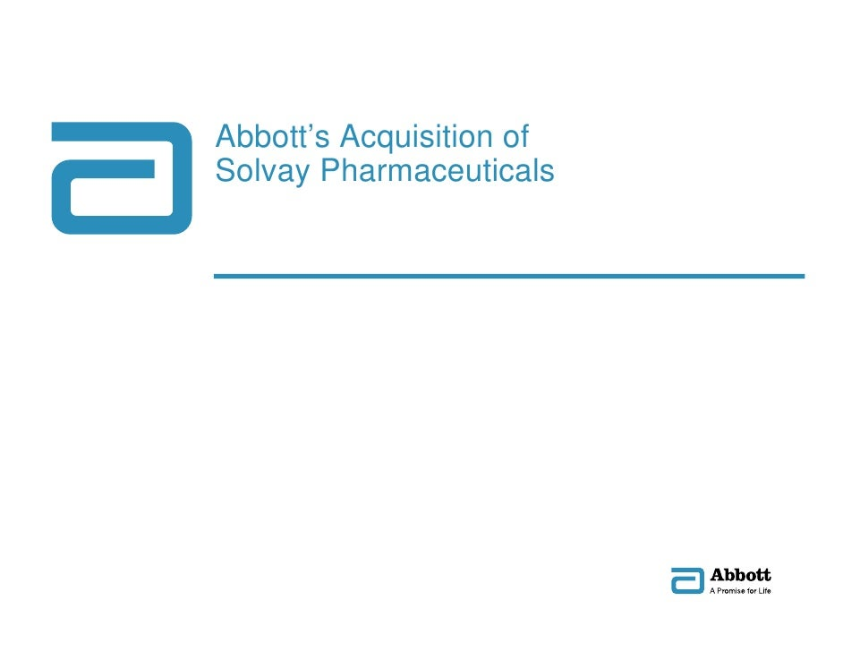 Abbott's Acquisition of                          Solvay Pharmaceuticals     GDS_70000_Title_v1   1