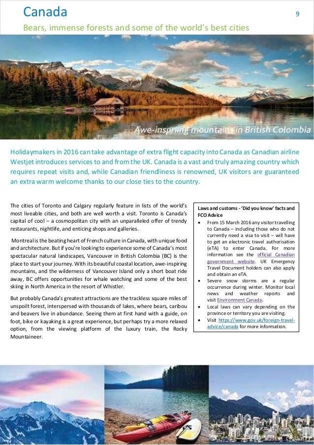 Abta Association British Travel Agencies Travel Trends 2016
