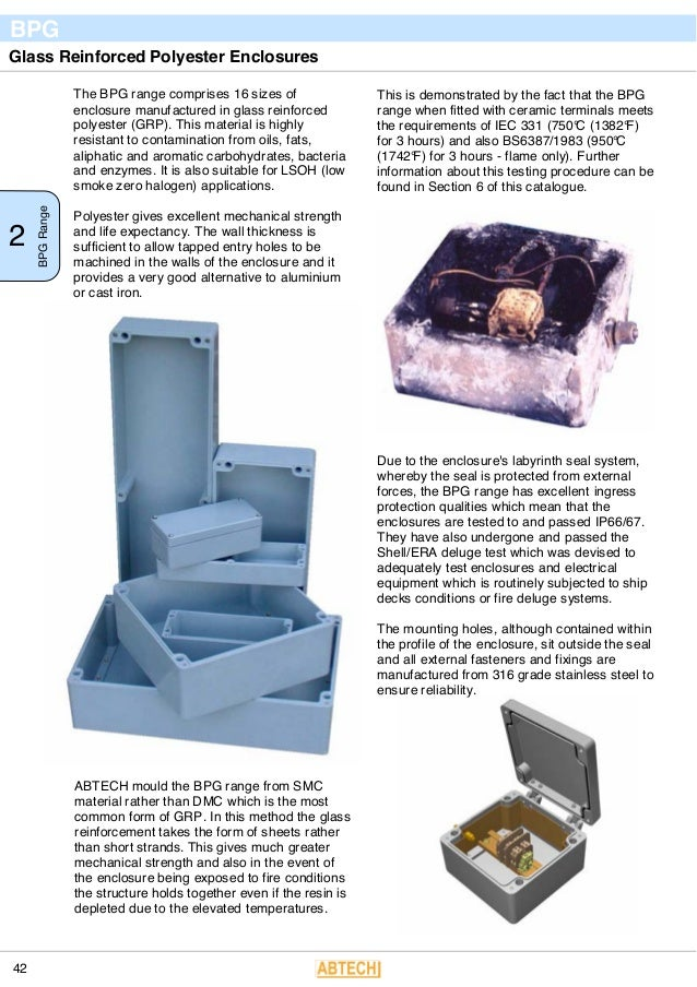 Abtech BPG Fire Rated Enclosures - Fire Rated Resistant