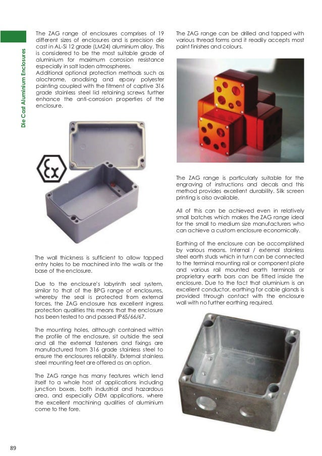Abtech ZAG9 Aluminium Electrical Enclosure & Junction Box