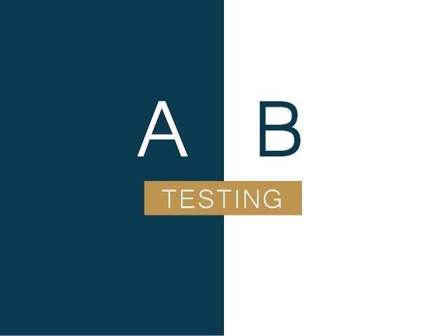 A/B Testing 又稱分割測試 測試特定的單一元素(UI、網站)的兩個或多個版本 被使用後的結果 並採用較好的版本上線以達到優化效果 什麼是 A/B Testing ? 優化目的 提高 停留時間、註冊率、轉化率、造訪數、回訪率、頁面流量 ...
