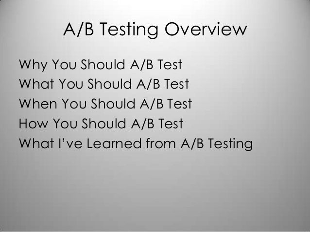 A/B Testing with Mike Greenfield Slide 3