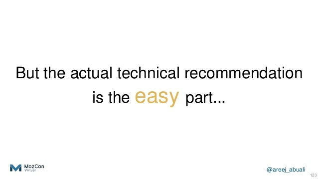 @areej_abuali But the actual technical recommendation is the easy part... 123