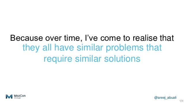 @areej_abuali Because over time, I've come to realise that they all have similar problems that require similar solutions 1...