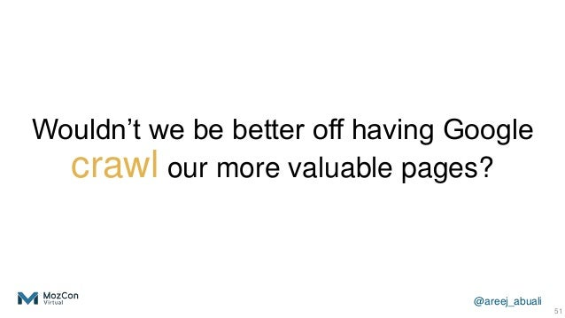 @areej_abuali Wouldn't we be better off having Google crawl our more valuable pages? 51