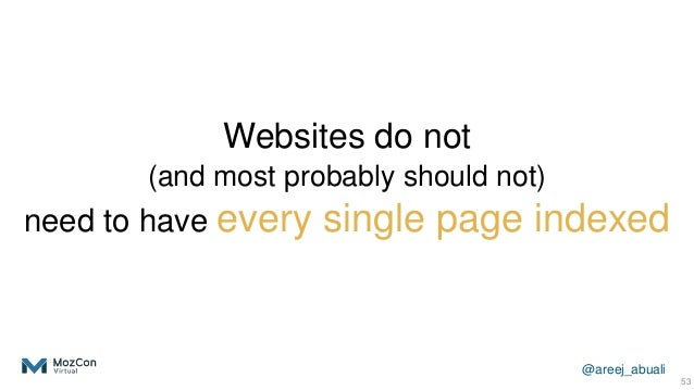 @areej_abuali Websites do not (and most probably should not) need to have every single page indexed 53