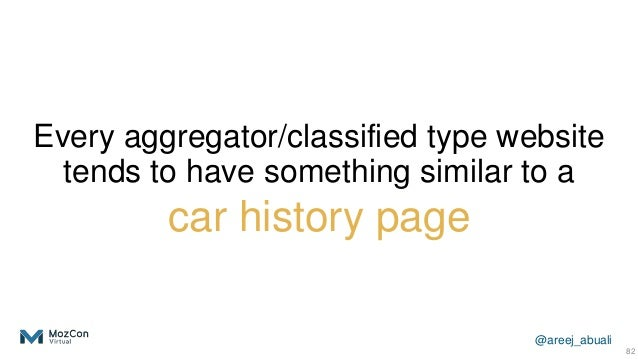 @areej_abuali Every aggregator/classified type website tends to have something similar to a car history page 82