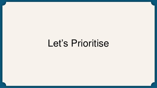 Let's Prioritise