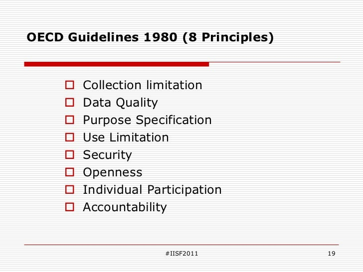 oecd privacy guidelines 8 principles