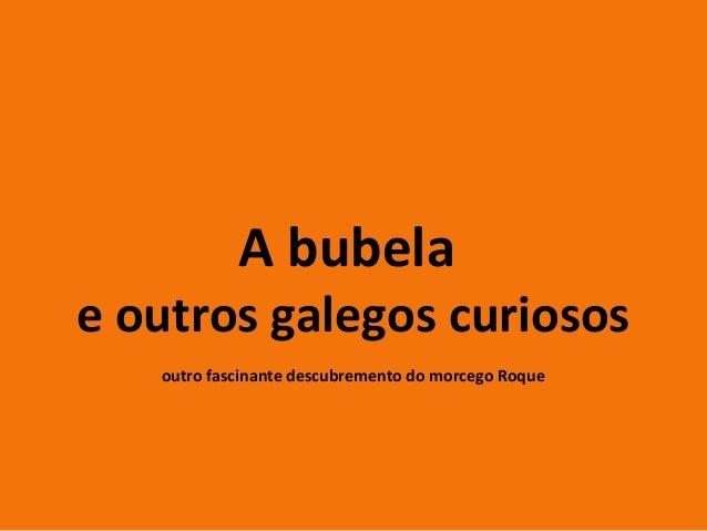 A bubelae outros galegos curiosos   outro fascinante descubremento do morcego Roque