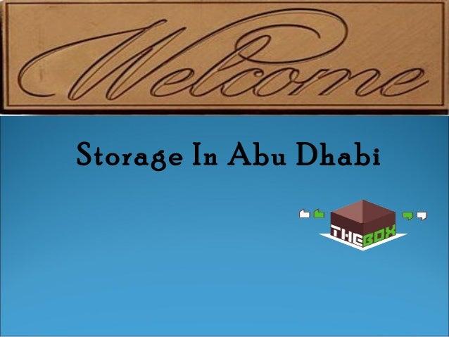 Storage In Abu Dhabi