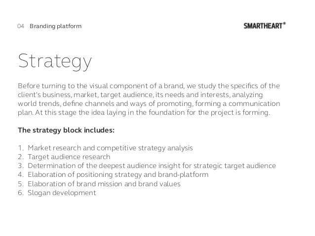 Strategy Before turning to the visual component of a brand, we study the specifics of the client's business, market, target...