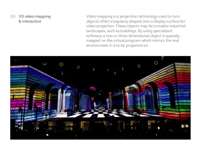 Video mapping is a projection technology used to turn objects, often irregularly shaped, into a display surface for video ...