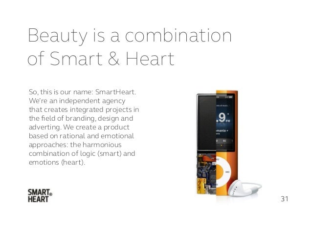 Beauty is a combination of Smart & Heart 31 So, this is our name: SmartHeart. We're an independent agency that creates int...