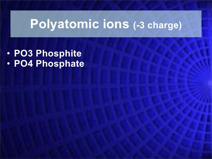 Po4 Charge: Ionic Naming