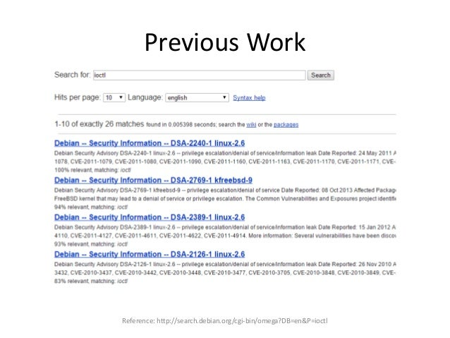 Previous Work Reference: http://search.debian.org/cgi-bin/omega?DB=en&P=ioctl