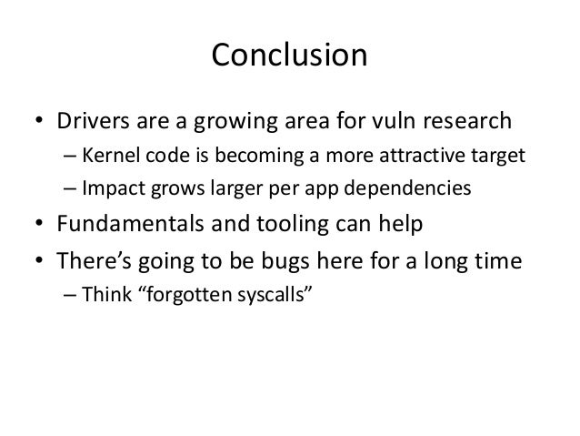 A Bug Hunter's Perspective on Unix Drivers