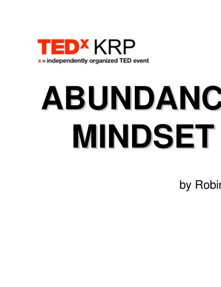 ABUNDANCE MINDSET      by Robin Low