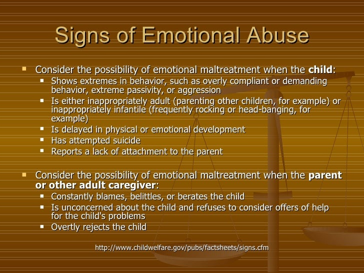 Signs Of Emotional Abuse In Adults