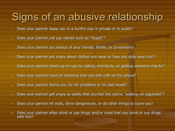 Signs Of Lunatic Abuse In A Relationship