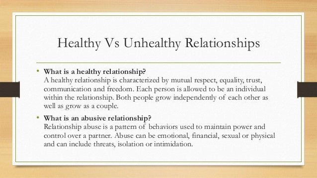 what are the characteristics of an unhealthy relationship