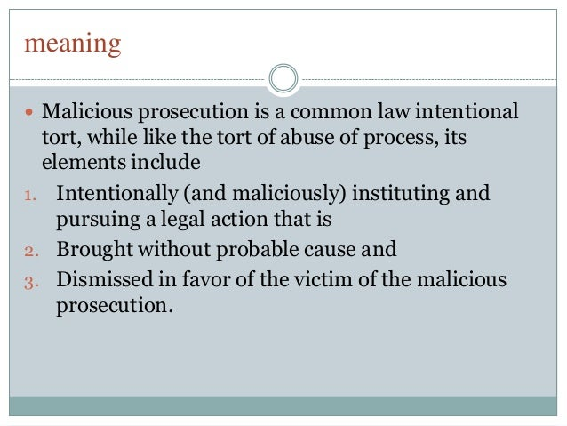 Tort- Abuse of legal proceeding