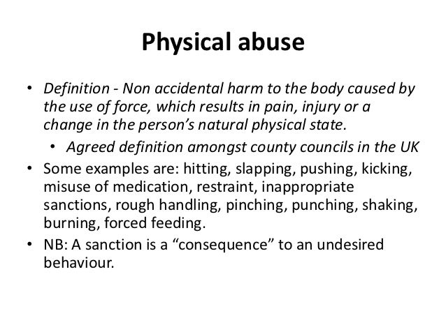 non physical abuse examples