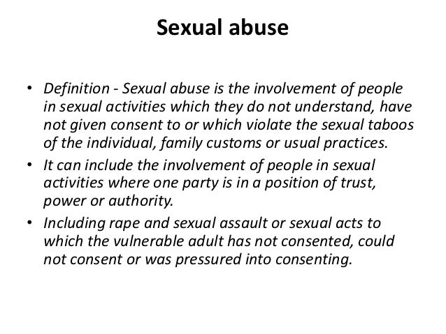 Definition of sexual abuse