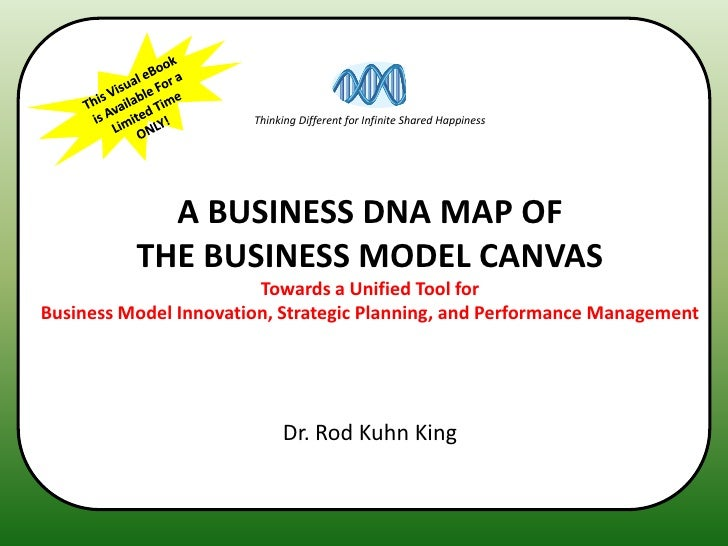 Thinking Different for Infinite Shared Happiness            A BUSINESS DNA MAP OF          THE BUSINESS MODEL CANVAS      ...