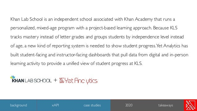 Khan Lab School is an independent school associated with Khan Academy that runs a personalized, mixed-age program with a p...