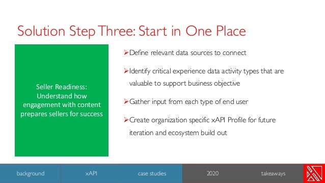 Solution StepThree: Start in One Place ØDefine relevant data sources to connect ØIdentify critical experience data activit...