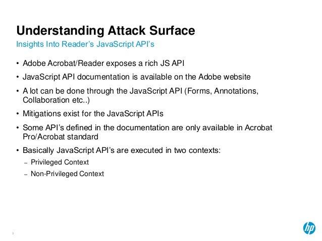 Abusing Adobe Reader's JavaScript APIs by Abdul-Aziz Hariri