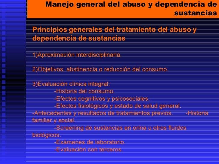 Abuso Y Dependencia De Sustancias Um