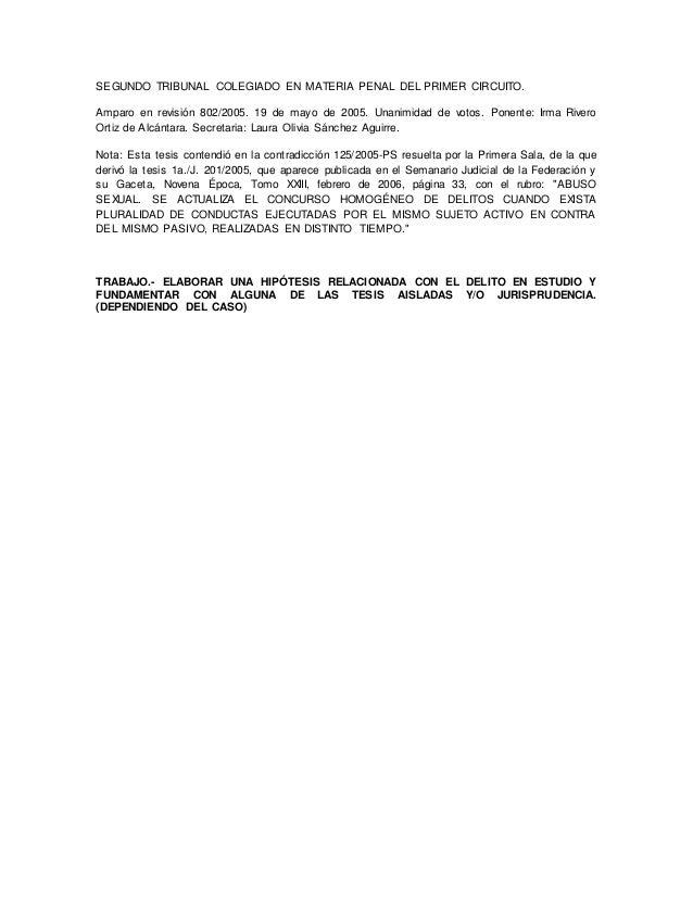 SEGUNDO TRIBUNAL COLEGIADO EN MATERIA PENAL DEL PRIMER CIRCUITO. Amparo en revisión 802/2005. 19 de mayo de 2005. Unanimid...