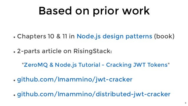 Luciano Mammino - Cracking JWT tokens: a tale of magic, Node JS and …