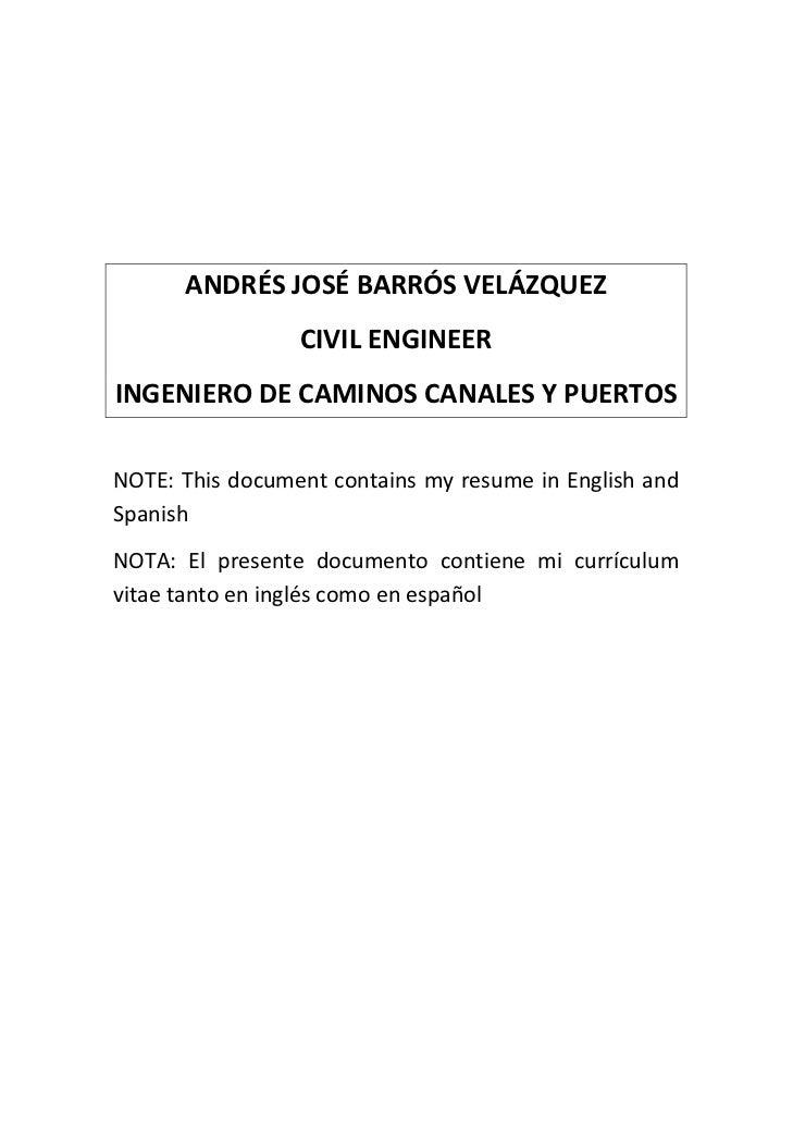 ANDRÉSJOSÉBARRÓSVELÁZQUEZ                  CIVILENGINEERINGENIERODECAMINOSCANALESYPUERTOSNOTE:Th...