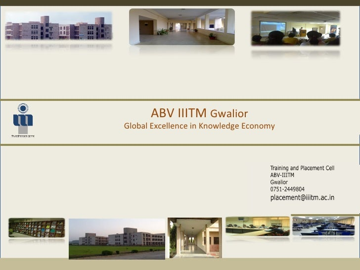 ABV IIITM  Gwalior Global Excellence in Knowledge Economy
