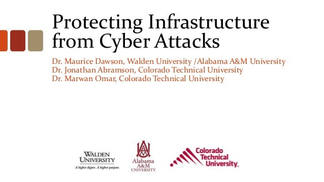 Protecting Infrastructurefrom Cyber AttacksDr. Maurice Dawson, Walden University /Alabama A&M UniversityDr. Jonathan Abram...
