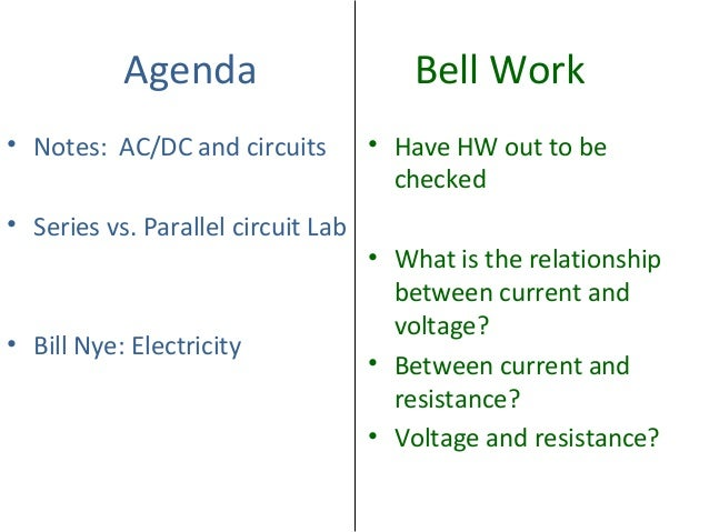 Ac Dc And Circuits on Ac Electrical Theory