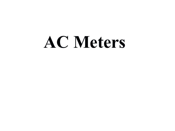 AC Meters Chapter 03