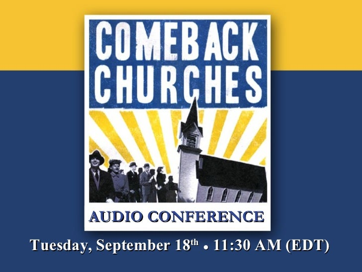 AUDIO CONFERENCE Tuesday, September 18 th   ●  11:30 AM (EDT)