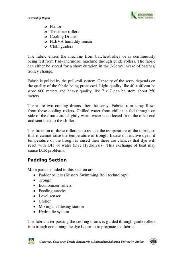 kohinoor internship report