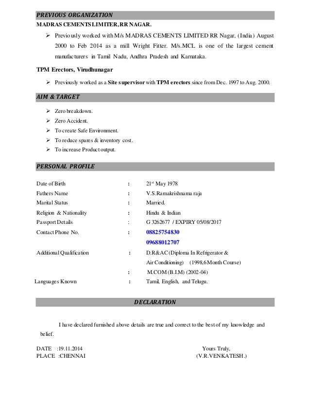millwright resumes template