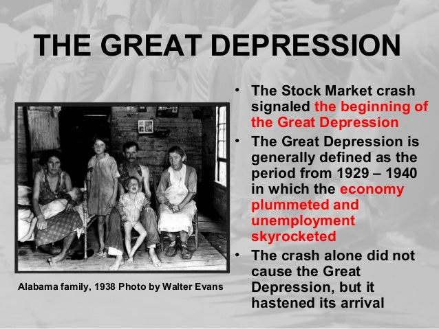 The history of the great depression and its effect on the us economy