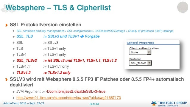 Admincamp 2016 - Securing IBM Collaboration with TLS (German)